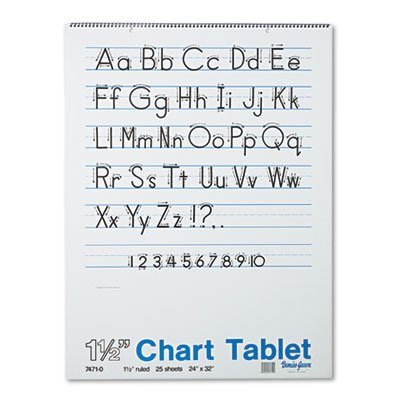 Pacon® - Chart Tablets w/Manuscript Cover, Ruled, 24 x 32, White, 25 Sheets/Pad - Sold As 1 Each - Perfect for classroom demonstrations of handwriting. by Pacon