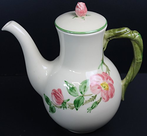 Franciscan Desert Rose Coffee Pot with Lid Green Trim ()