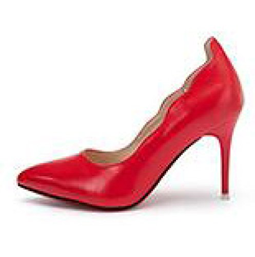 3 Red UK Party Nightclub WeddingDUSTO Cour Sexy Mode 9cm Chaussures Chaussures Noir EU Talons Femme Hauts Travail 35 gqS7xT