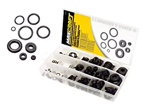 MAXCRAFT 7713 O-Ring and Rubber Grommet Assortment, 195-Piece