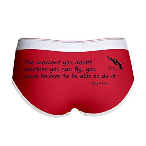 CafePress - Peter Pan Quote Women's Boy Brief - Women's Boy Brief, Boyshort Panty Underwear with Novelty Design Red/White (Peter Pan Panties)