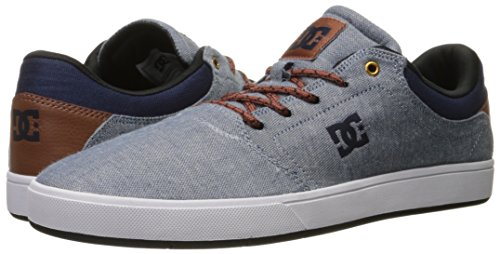 DC Men's Crisis TX Skate Shoe, Indigo Dark Worn, 7.5 M US
