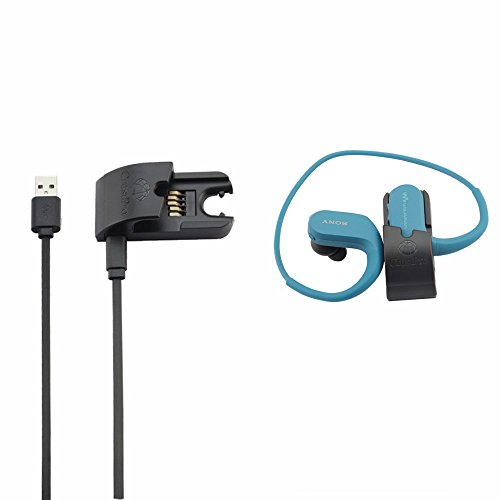 SONY NW-WS414 NW-WS413 Accessories,Replace Data Sync Cradle Dock Desktop USB Charging Clip Charger for SONY NW-WS414 NW-WS623 NW-WS625 Walkman Headphone-integrated