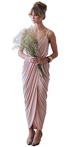 Cinderela Dress (BLUSH Bridesmaid Dresses, Maxi Wrap Dress, Sexy dress, Very Unique Wrap Gown)