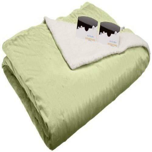 Biddeford 6001-9051136-635 Electric Heated Micro Mink/Sherpa Blanket, Full, Sage by Biddeford (Image #3)