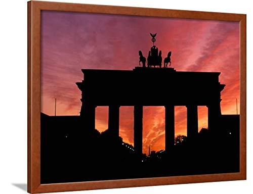ArtEdge Brandenburg Gate, Unter Den Linden, Berlin, Germany by Dave Bartruff, Brown Wall Art Framed Print, 24 x 32, ()