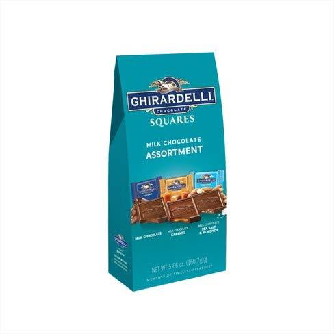 - Ghirardelli Milk Chocolate Assortment 3 Flavors, 5.66 Ounce