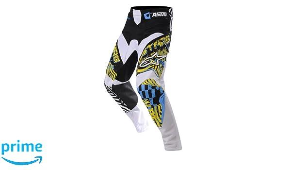 Alpinestars Pantal/ón Motocross 2018/Racer Flagship fluorescent-nero-anthracite 28/Cintura = Eu 44, negro