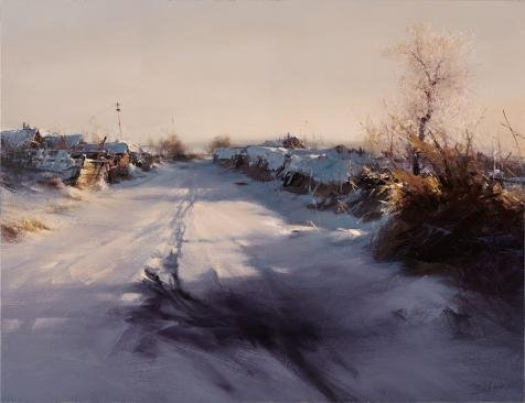 Perfect Effect Canvas ,the Best Price Art Decorative Canvas Prints Of Oil Painting 'The Path Covered With Snow', 12x16 Inch / 30x40 Cm Is Best For Bathroom Gallery Art And Home Artwork And Gifts (Mascara Blanca Halloween)