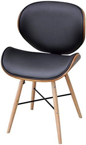Festnight Lot de 2 chaises de Salle à Manger sans accoudoirs Noir 50 x 50 x 81 cm
