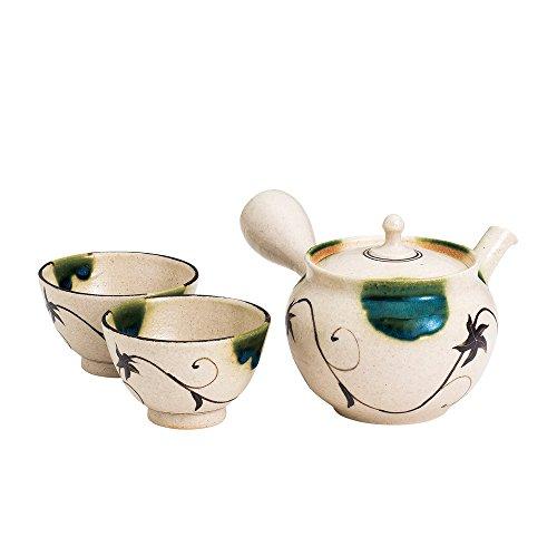 TOKYO MATCHA SELECTION - [Premium/VALUE] Tokoname Kyusu Set : JUNZO MAEKAWA - 1 Pot, 2 Cups from Aichi pref, Japan - Japanese Tea Pot [Standard ship by EMS: with Tracking & Insurance] by Tokyo Matcha Selection