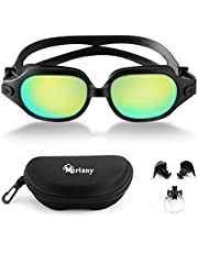 Merisny Swimming Goggles for Adult, Anti-fog Swim Goggles No Leaking Professional UV Protection Swimming Goggles with Case for Men Women Kids ¡