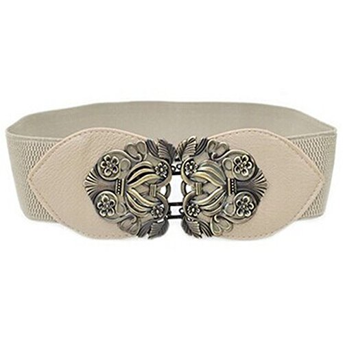 ZYUEER Cintura Elastica Intrecciata Casual Per Uomo E Donna Pelle Artificiale Cintura In Vita Da Donna Con Fibbia Elasticizzata Elasticizzata Elasticizzata Vintage