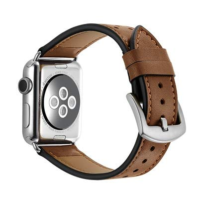 Amazon.com: Leather Strap for Apple Watch Band 4 42mm/38mm 3 ...
