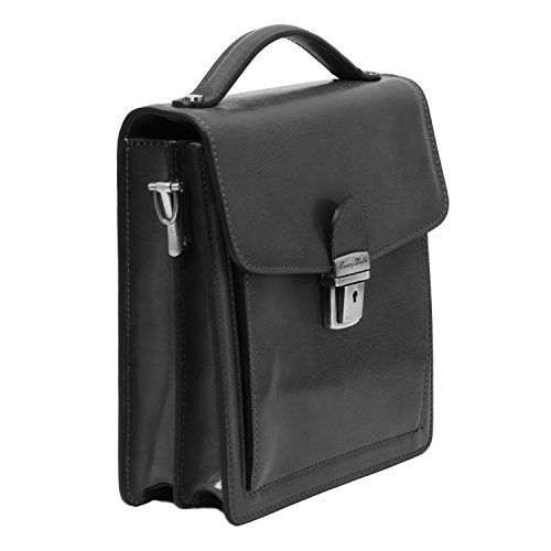 Tuscany Leather - David - Sac bandoulière en cuir pour homme - Petit modèle - Marron foncé