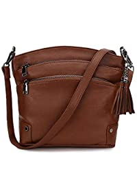 Crossbody Purse for Women, Faux Leather Tassel Shoulder Bag for Girls with 2 Removable Straps VONXURY