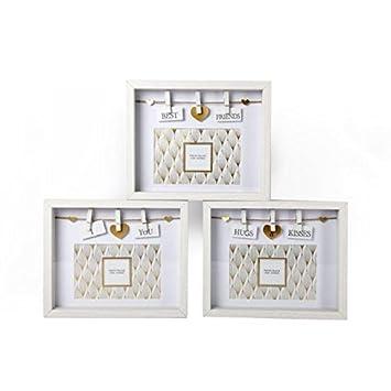 Bilderrahmen Wäscheleine weiß gold holz box bilderrahmen 6 x 4 deko wäscheleine