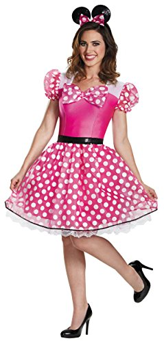 Pink Minnie Mouse Glam Adult Costume - X-Large