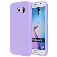 Galaxy S6 Case, Slim Fit [Jelly Series] Soft Rubber Glossy TPU Gel Case Protective Cover Skin for Samsung Galaxy S6 (Light Purple)
