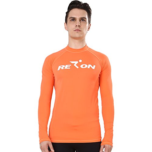 Realon Rash Guards Men UV Protection 50+ Sweatshirt Surfing Rash Top Rashguard Vest Swim Shirt Boys