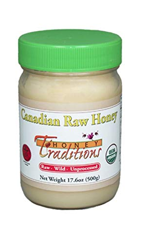 Organic Raw Canadian Honey - 17.6 oz. glass jar