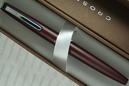 Cross Classic made in USA Epic matte Burgundy and Cross unique Clip Selectip Rollerball pen