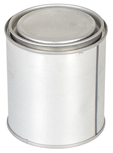 Vestil MRC-16 Tin Plated Steel Round Can with Metallic Lid, 3-3/8
