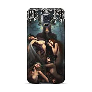 Scratch Resistant Hard Phone Case For Samsung Galaxy S5 With Provide Private Custom Vivid Moonspell Band Morbid God Skin DannyLCHEUNG