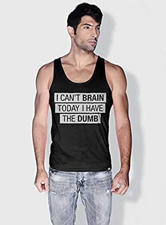 Creo I Cant Brain Today Funny Tanks Tops For Men - Xl, Black