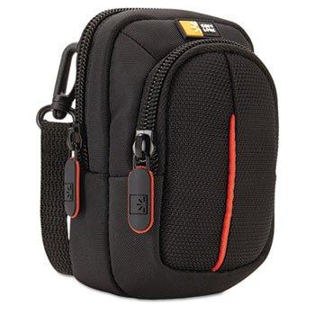 Compact Digital Camera Case with Storage, Polyester/Nylon, 3 x 2-3/4 x 5, Black