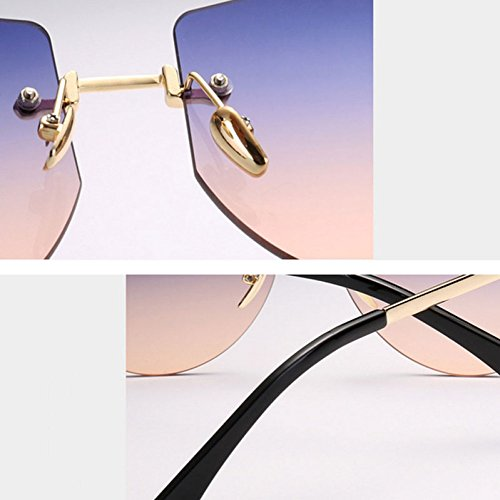 Bronze Sol Sol Polígono CX Glasses De Colored Trimming Colorida De Frameless Gafas Multi Casual Ciclismo Ocean GUOHONG Mirada Big Teñido Moda De Gafas Irregular t7gY7