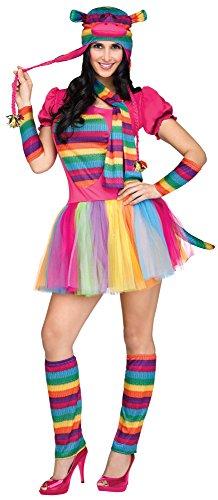 Fun World Rainbow Sock Monkey Adult Costume ()