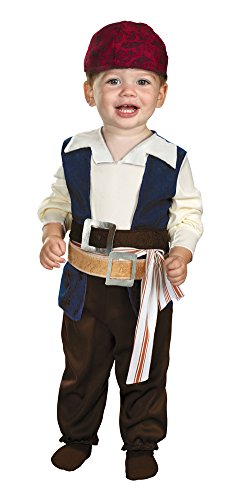 Toddler And Baby Jack Sparrow Costumes (Baby-Toddler-Costume Jack Sparrow Toddler Costume 12-18 Month Halloween Costume)