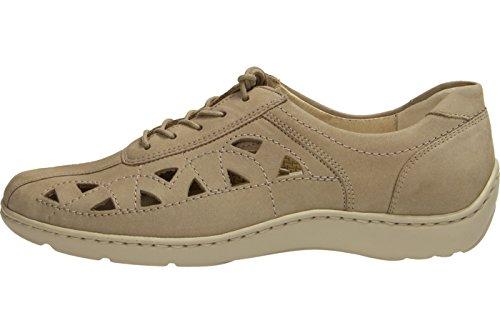Waldläufer 496003-191-094 - Zapatos de cordones de Piel para mujer Gris - Corda