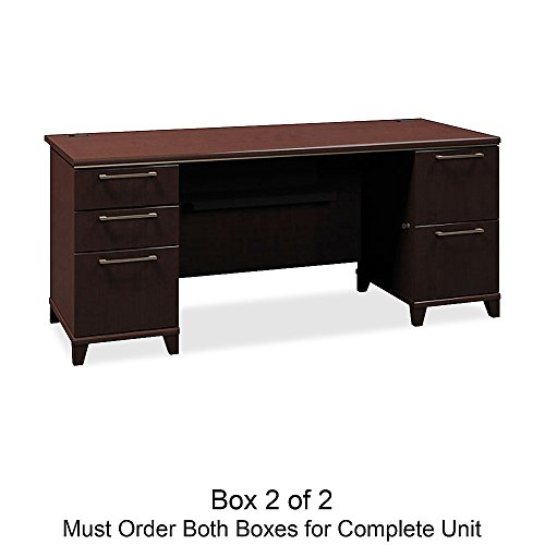Bush Business Furniture Double Ped. Desk,70-1/8