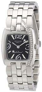Regent La Donna! - Reloj analógico de mujer de cuarzo con correa de acero inoxidable plateada - sumergible a 30 metros