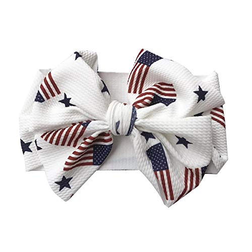 (Baby girl Flowers Headband Bow Elastic Hair Accessories Headwear Headdress Hair Accessories (National Flag, One Size))