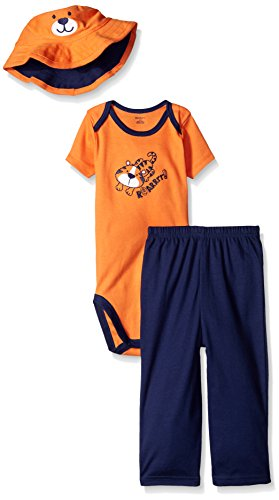 Gerber Baby Three-Piece Bodysuit, Bucket Hat, and Pant Set, Tiger, 18 Months ()