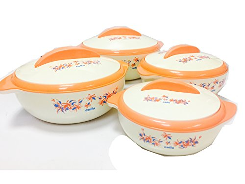 Cello Sizzler Insulated Casserole Food Server Hot Pot Gift Set (4-Piece Set) by Cello