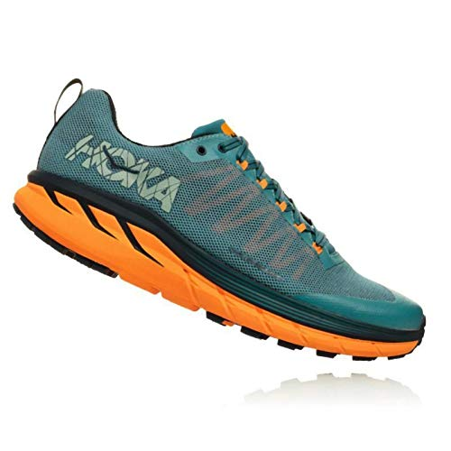 HOKA ONE ONE Mens Challenger ATR 4 Mesh Storm Blue Black Iris Trainers 8.5 US