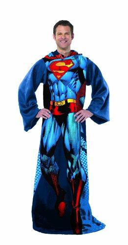 Superman Comfy Throw - DC Comics Fleece Blanket Sleeves ()