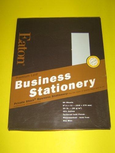 - Eaton, Premium Laid, Business Stationery, 80 Sheets, 8 1/2