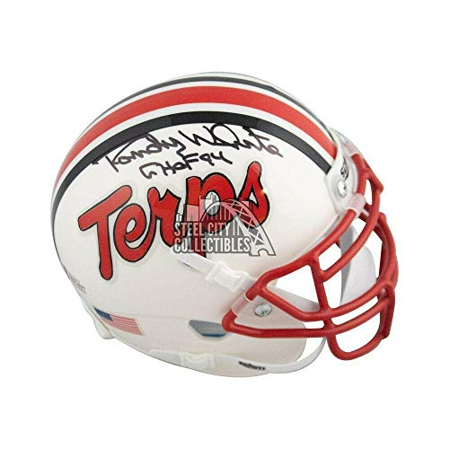 Randy White Autographed Helmet - CHOF 94 Maryland Terrapins Mini BAS COA - Beckett Authentication - Autographed NFL Helmets