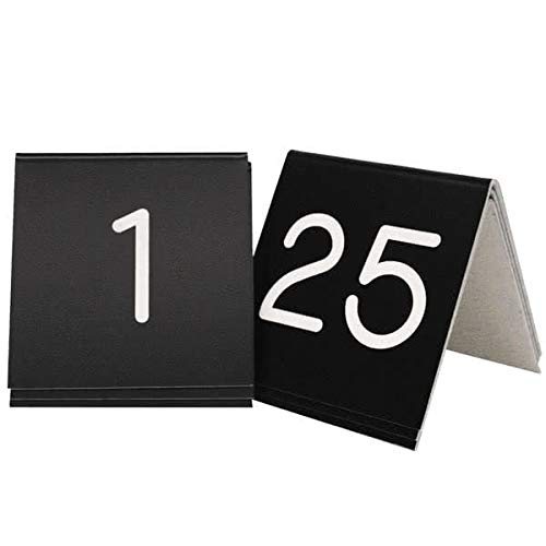 Cal Mil Number Tents - Cal-Mil 271-2 Tabletop Number Tent - 3.5