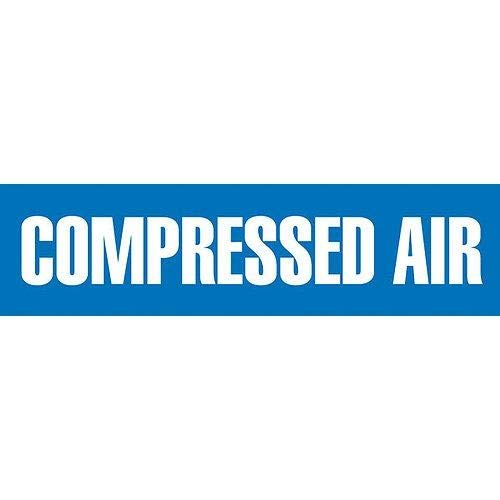 GHS Safety PM1066VB, Blue Adhesive Vinyl Pipe Marker''Compressed AIR'', Pack of 500 pcs