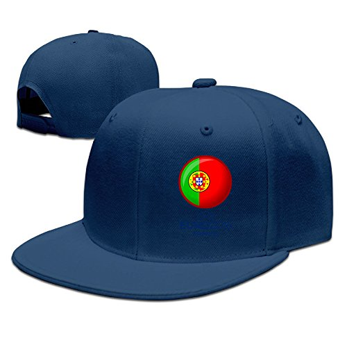 CYANY Portugal Flag Flat Bill Snapback Adjustable Camping Cap (Osfm Flex Cap)