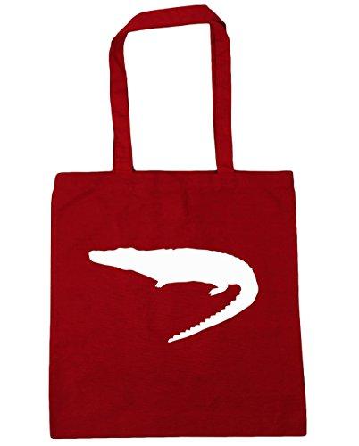 HippoWarehouse cocodrilo Tote Compras Bolsa de playa 42cm x38cm, 10litros Classic Red
