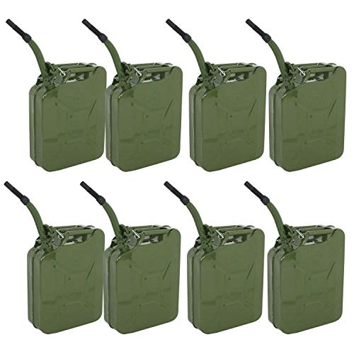 Clever Market Gas Tank Jerry Can Automotive Fuel Steel Green Tank Emergency NATO Backup Army Jerry Cans Gasoline Military Tank 5 Gal 20L Set 8