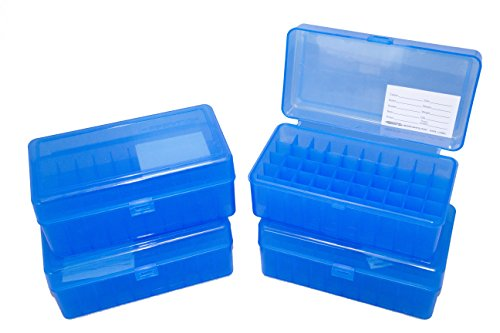 Dillon Precision 4 Pack Ammo Box 50 round 45 ACP 40 S&W 10mm Ammunition Storage - 45 Acp Mm 10