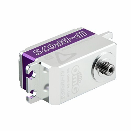 Low Profile Digital Servo (RCOMGs D3-LP-BF07S all metal brushless low profile servo Applicable for the R/C Car and Drifting Rudder (1:10) and R/C Helis lock tail (700series and larger) Middlecase purple)